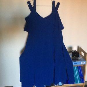 Lane Bryant Blue Off the Shoulder Dress